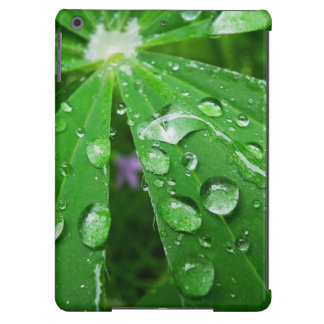 Droplets on Green Plant Cover For iPad Air