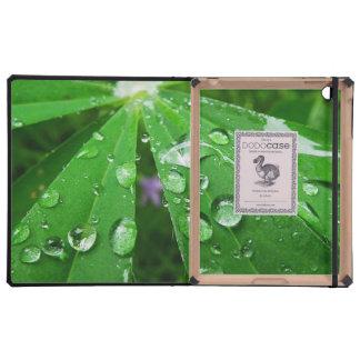 Droplets on Green Plant iPad Folio Case