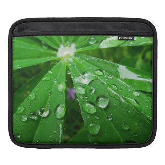 Droplets on Green Plant Sleeves For iPads