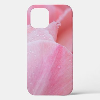 Droplets on Pink Tulips Close Up iPhone 12 Case