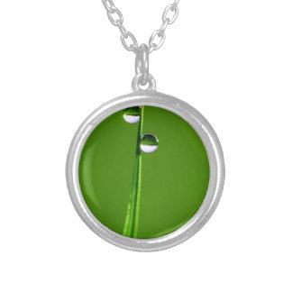 Droplets Silver Plated Necklace