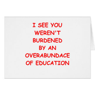 dropout greeting card