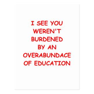 dropout postcard