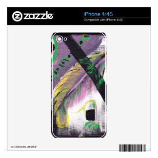 Dropped Feather iPhone4/4S case Skins For iPhone 4
