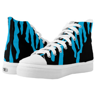 dropped paint custom hi-top shoes printed shoes
