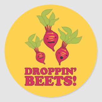 Droppin' Beets Classic Round Sticker