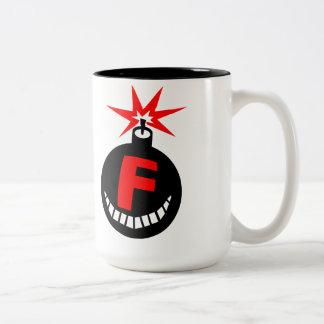 Droppin' F-Bombs Two-Tone Coffee Mug