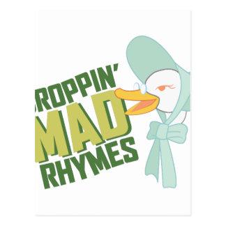 Droppin Mad Rhymes Postcard