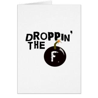 Droppin' The F Bomb Card