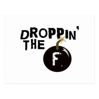 Droppin' The F Bomb Postcard