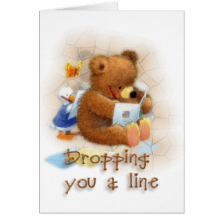 Dropping a Line Greeting Card