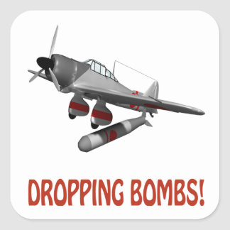 Dropping Bombs Square Sticker