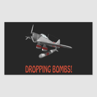 Dropping Bombs Rectangular Stickers