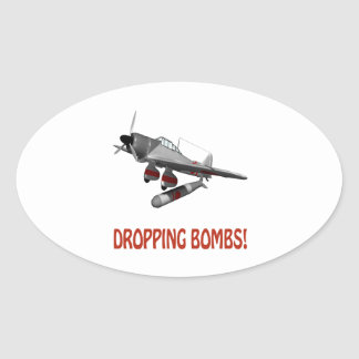 Dropping Bombs Sticker
