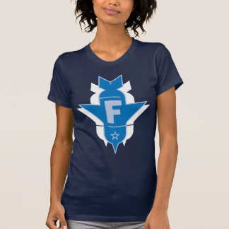 Dropping F Bombs - Blue and White T-Shirt