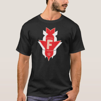 Dropping F Bombs - Red and White T-Shirt
