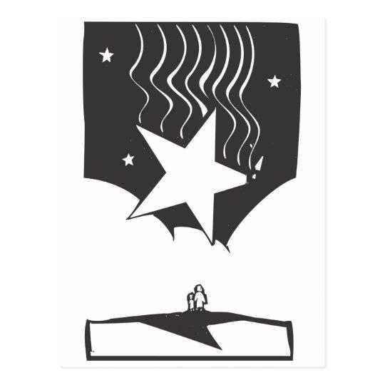 Dropping Star Postcard