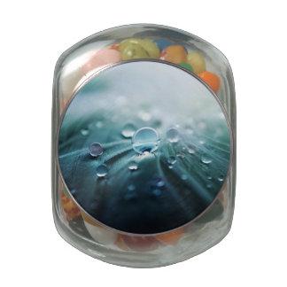 Drops Glass Candy Jar