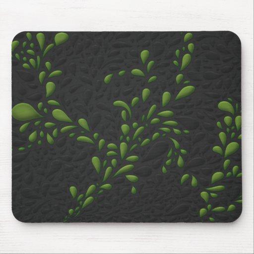 Drops (Green) Mousepad
