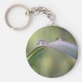Drops of art basic round button keychain
