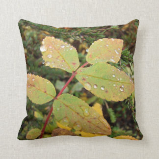 Drops of Autumn; No Text Throw Pillow