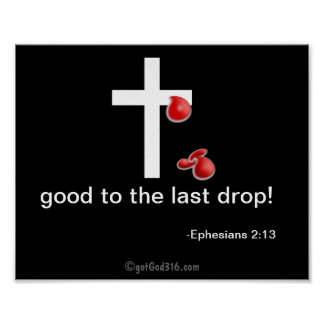 Drops of Blood gotGod316.com Cross Poster