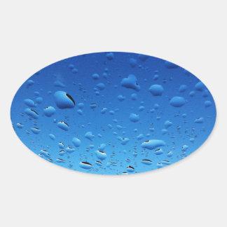 Drops of Rain Oval Sticker