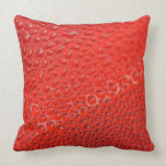 Drops of the morning dew on red lights closeup throw pillow