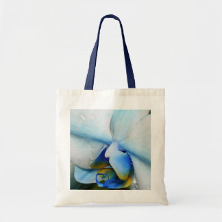 Drops on Blue Orchid Canvas Bags