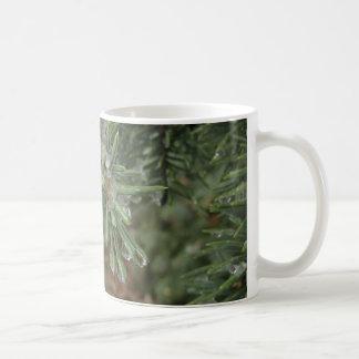 Drops on Blue Spruce Coffee Mug