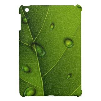 Drops On Green Leaf iPad Mini Cases
