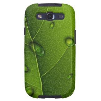Drops On Green Leaf Samsung Galaxy S3 Case