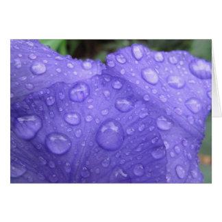 Drops on Purple Iris Stationery Note Card