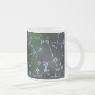 Drops On Spider Web Frosted Glass Coffee Mug