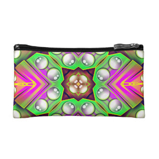 Drops Water On A Colorful Abstract Background Cosmetic Bag