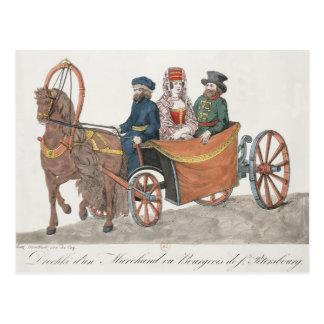 Droshky of a St. Petersburg Merchant Postcard