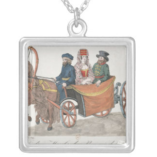 Droshky of a St. Petersburg Merchant Silver Plated Necklace