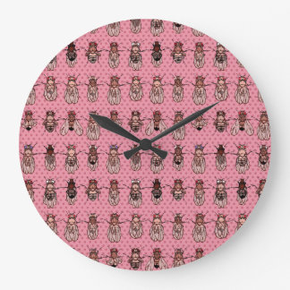 Drosophila Fruit Fly Genetics - mutants - Pink Large Clock