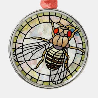 Drosophila Metal Ornament