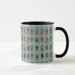 """Drosophila mutants mug<br><div class=""""desc"""">Genetic markers for balancers and mutations are illustrated in what has to be the weirdest design I&#39;ve ever created! Fruit flies are the best tool for genetic studies. Great gift for your thesis supervisor, fly lab colleague, and to celebrate your first paper in Nature! Can you find bar eye, notched,...</div>"""