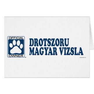 Drotszoru Magyar Vizsla Blue Greeting Card