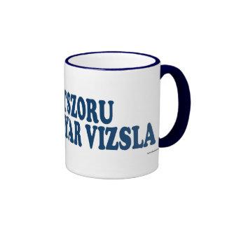 Drotszoru Magyar Vizsla Blue Ringer Coffee Mug
