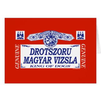 Drotszoru Magyar Vizsla Greeting Card
