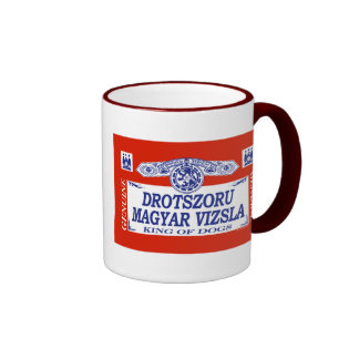 Drotszoru Magyar Vizsla Ringer Coffee Mug