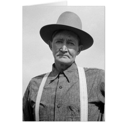 Drought area farmer – 1939. card