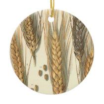 Drought Resistant Wheat Plant, Vintage Agriculture Ceramic Ornament