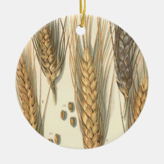 Drought Resistant Wheat Plant, Vintage Agriculture Ceramic Ornament