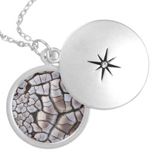 Drought Round Locket Necklace