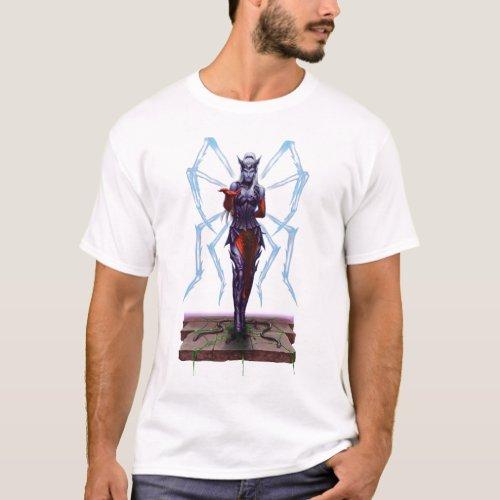Drow Enchantress _ Dark Elf Fantasy T_Shirt