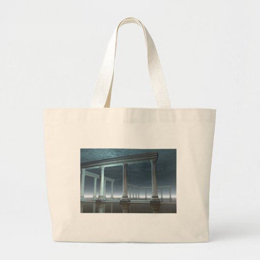 Drowned Greek Temple Ruin in the Moonlight Tote Bag